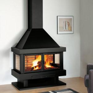 Barbara 120-Rocal-chimenea metálica clásica