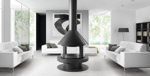 Gala-Rocal-chimenea metálica central 360 salon